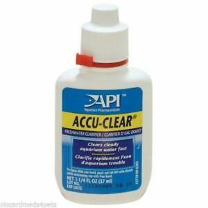 API Accu-Clear 1.25oz Freshwater Aquarium Clarifier  Clears Cloudy Water