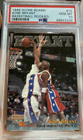 1996 Score Board Kobe Bryant PSA 10 GEM Mint RC Rookie HOF #15 Low Pop Lakers