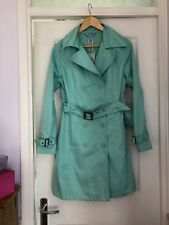Mint Green Cotton Double Breasted Belted Coat From Primark Size 10 Unworn
