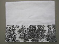 WHITE HAND TOWELS Black & White French Country Guest Toile Bathroom Kitchen