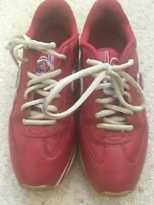 CHIPIE RED LEATHER TRAINERS SHOES 4 (37)