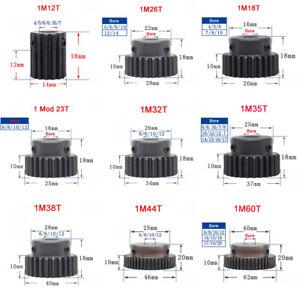 1 Mod 10-80T Zähne Zahnrad Stirnrad With Schritt C45 Stahlzahnrad Bohrung 4-25mm