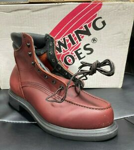 """100% AUTHENTIC RED WING 202 6"""" WORK BOOTS NEW IN BOX MADE IN USA"""