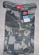 NEW! WRANGLER BOYS SIZE 5 Regular CAMOUFLAGE CARGO SHORTS ADJ  WAIST BELT