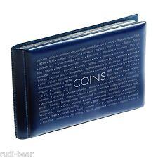 Münzen-Taschenalbum mit 8 Münzblättern für je 6 Münzen, blau      coins