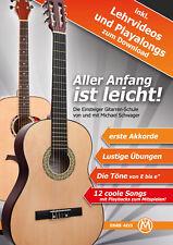 Gitarrenschule Anfänger Noten Einsteiger Konzert Gitarre Klassikgitarre Akkorde