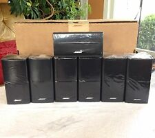 7 Bose Double Cube Speakers 1 Center Channel & 6 Surround For 7.1 or 7.2 Systems