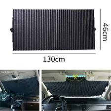 Retractable Black Windshield 130x46cm Sunshade Shade UV Visor Curtain for Car