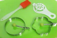 Anillos de freír huevos brocha de cocina & Separador de Huevo Círculo Redondo Molde De Mango