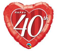 "40th Birthday  40th Anniversary Decorations Party Supplies 18"" Balloon BIG 4 0"