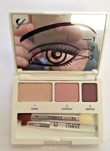 Clinique Colour Surge Eyeshadow Trio Palette Come Heather Lilac Truffle seashell