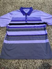 Adidas Golf ClimaCool Polo Shirt Purple Short Sleeve Performance Mens Shirt XL
