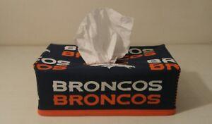 NFL Denver Broncos Tissue Box Cover (rectangle) Handmade