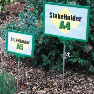 A4 A5 ground stake sign for sticking in the ground poster holder garden retail