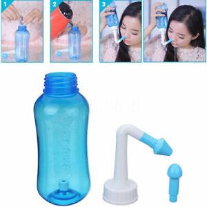 300ml Nose Nasal Rinse Wash Sinus Allergies Relief Neti Pot Cleaner Waterpulse