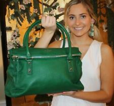 KATE SPADE Cobble Hill Leslie LARGE FOREST GREEN EMERALD Buttery Soft Leather!