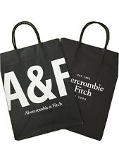 """ABERCROMBIE & FITCH A&F 12x9"""" Store Shopping PAPER Tote BAG+GIFT Wrap (Lot Of 2)"""