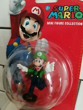 "SUPER MARIO MINI FIGURE COLLECTION LUIGI 2"" FIGURE NINTENDO NEW SEALED"