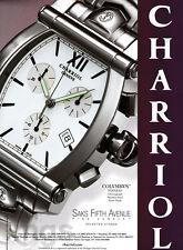 Chariol watch print ad 2000 Columbus Tonneau