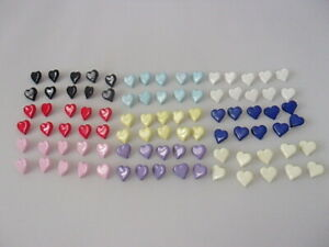 10 Quality Heart Novelty Shank Buttons 15mm Baby Children Craft Choice Of colour