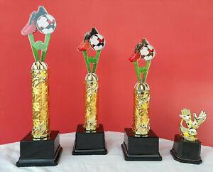 Pokal Pokale 4er Serie Fußball Acryl Torwart +Gravur 30 cm 2020 Top NEUHEIT