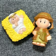 2x Fisher Price Little People CHRISTMAS Nativity SHEPHERD & Jesus Baby gifts TOY