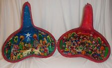From Peru a Decorated Guord with Nativity and Blood Fiesta Depicted Inside