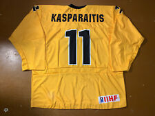 Tackla Game Issued IIHF Lithuania Ice Hockey Jersey Lietuva Shirt 11 KASPARAITIS