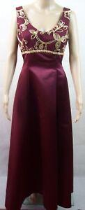The Liz Look Elegant Michelle Ruby Deluste Formal Long Satin Dress - Womens Sz10