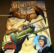 Where Monsters Dwell Poster Marvel 24X36 Pterodactyl Secret Wars Phantom Eagle
