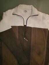 CECIL tolle Strickjacke Jacke   grün weiß Größe L  (40 / 42 )