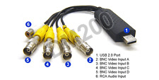 Windows-Based BNC RCA To USB Converter Quad Video Switcher