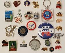 Collection of 27 Different Republican Campaign Collectibles