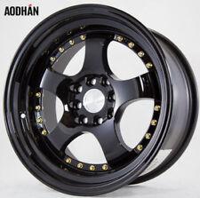 16x8 AodHan AH03 4x100/114.3 +15 Full Black Wheels (Set 4)