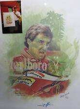 Jean Alesi-Ferrari Formula 1-imprimé par Craig WARWICK-signé par Jean