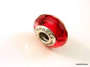 AUTHENTIC PANDORA CHARM MURANO GLASS FASCINATING RED  #791066