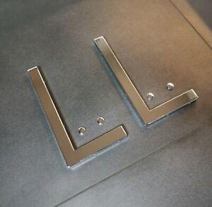 2er Set Chrom 30cm Wandhalterung Waschtischplatte Regalträger Konsolenhalterung