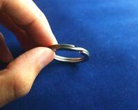 EDC Gear Titanium Ti Matte Key Chain Key Ring Split Ring Size M 28mm 1.1''