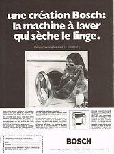 PUBLICITE  1971   BOSCH  lave linge machine à laver