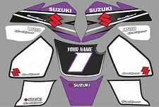suzuki lt80 quad graphics stickers decals name-number lt 80 mx laminate purple