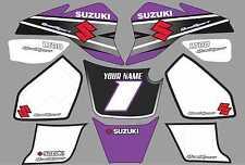 suzuki lt80 quad graphique autocollants nom-nombre lt 80 mx stratifié violet