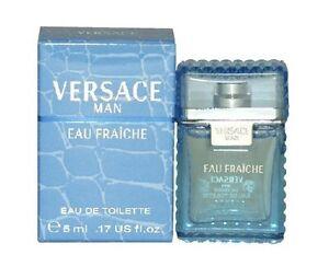 25 x Versace Eau fraiche Men 0.17 .17 oz 5 ml Eau De Toilette Dab-On Splash Nib