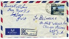 Old Harbour Jamaica Registered Air Mail Letter 1964 Cover
