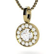 Diamond  Vs1/H Necklace 0.30ct Brilliant Cut 18ct Yellow Gold Pendant Necklace