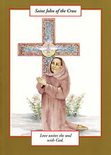 GREETING CARD spiritual art SAINT JOHN of the CROSS Saints and Sages Christian