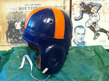 1930s -1940 Clemson style Leather Football Helmet Legendary pre war museum adult