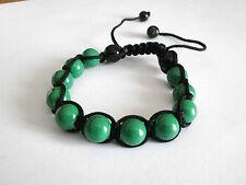 Bracelet shamballa perles vertes BR006