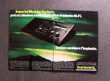 [GCG] L527 - Advertising Pubblicità -1979- IMPERIAL MODULAR SYSTEM , HI-FI