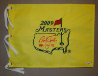 Nick Faldo SIGNED 2009 Masters Golf Pin Flag + 1989 90 96 PSA/DNA AUTOGRAPHED