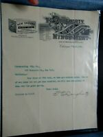 1894 Antique Signed Document, T.E. Dougherty, New England Mince Meat, Chicago IL